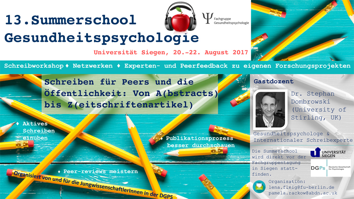DGPS summerschool Flyer 2017